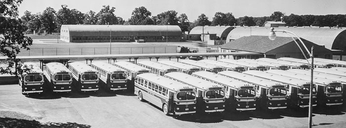 fleet of buses that transported Argonne employees