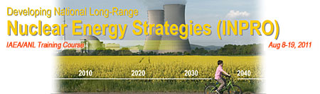 """Developing National Long-Range Nuclear Energy Strategies (INPRO)"" workshop"