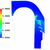 Analysis of a Flywheel Shroud using the TEMP-STRESS Finite Element Code