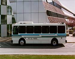 Fuel cell powered bus at Argonne
