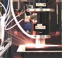 Argonne's Nd:YAG laser in action -Laser Well Drilling