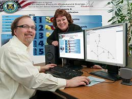 Argonne's National Security Information Systems (NSIS) Team, researchers Doug Johnson (left) and Judy Chiarelli