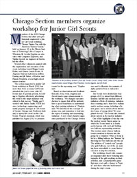 ANS News article about Junior Girl Scout Workshop