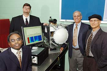 NE scientists Sami Gopalsami (left), Thomas Elmer, Paul Raptis and Sasan Bakhtiari