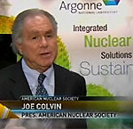 ANS President interviewed at the Argonne Booth during the Nuclear Technology Expo at the 2010 ANS Winter Meeting