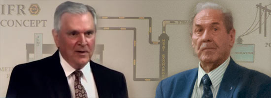 "Retired Argonne managers Chuck Till (pictured left) and Len Koch appear in Robert Stone's documentary ""Pandora's Promise""- Photo credits: Argonne National Laboratory"